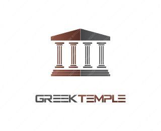 Greek Temple Logo Design