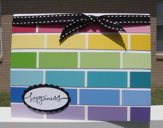 yet another great paint chip craft- I am always | http://cutegreetingcards.blogspot.com