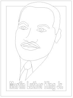 Free Martin Luther King Jr Day Printable Coloring Page