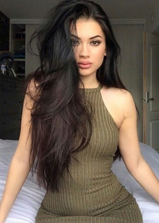 Top 10 Sexy Long Dark Hairstyles Trends 2017  for Young Girls