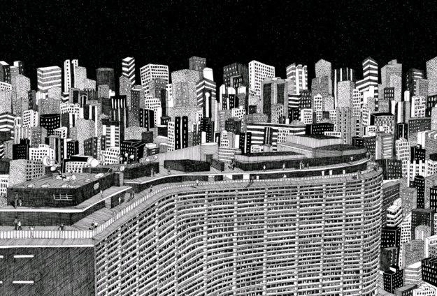 Copan Oscar Niemeyer. Artista Diane Berg