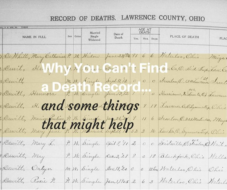 Why You Can't Find a Death Record (and Some Things That Might Help) - Amy Johnson CrowAmy Johnson Crow