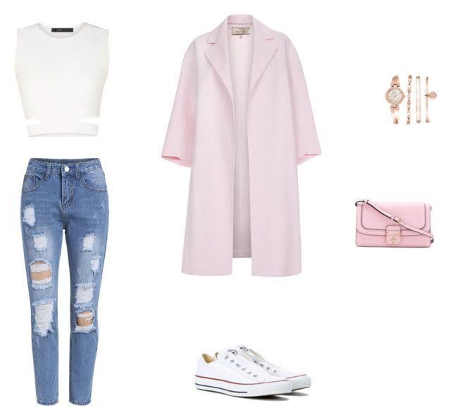 """Look casual-chic"" by mariauranga on Polyvore featuring moda, BCBGMAXAZRIA, Converse, Paul Smith, Dolce&Gabbana y Anne Klein"