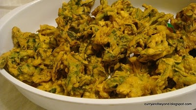 Curry And Beyond: Escarole Pakoras- Escarole Fritters