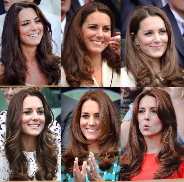 The duchess of Cambridge at Wimbledon 2011-2015