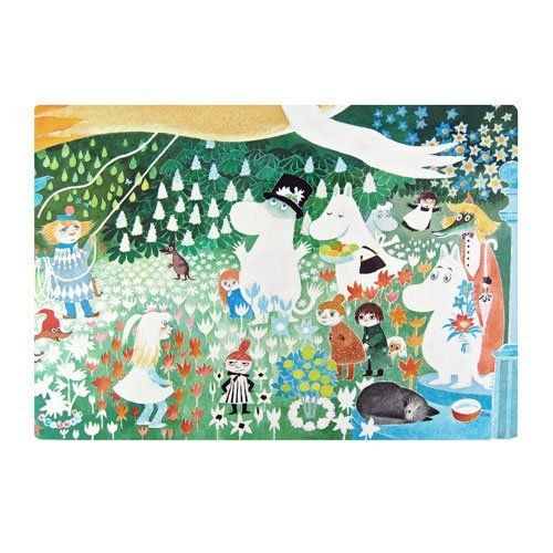 Moomin Dangerous Journey Placemat by Opto Design. $7.25. 10-3/4? x 15-3/4? (27.3 x 39.5 cm). Clean with a damp cloth. 100% Plastic. The irresistible artwork on this smooth plastic placemat is originally from 1977?s ?The Dangerous Journey?, Tove Jansson?s last Moomin picture book. You will enjoy using this placemat every day in the kitchen, or perhaps you?d prefer to frame it as art. The Dangerous Journey placemat is made by Opto Design of Sweden.