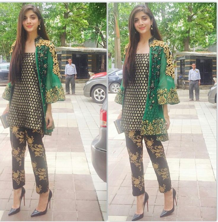 #PAKISTANI # ACTRESS #MAWRA #HOCANE IN A DRESS BY #DESIGNER #SAIRA #RIZWAN…