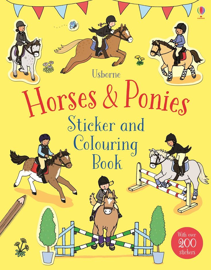 Horses & Ponies - Usborne Sticker & Colouring Book - http://usborneonline.ca/thebookgirls/catalogue/catalogue.aspx?cat=1&area=CL&subcat=CLS&id=9997