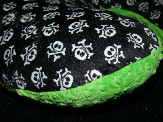Skull Minky Boppy Cover or Jolly Jumper by tarascozycreations