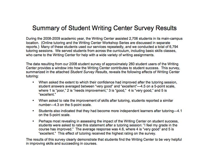 sample summary of survey report #316 teaching Pinterest - sample student survey