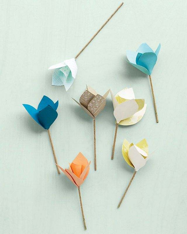 Sweet little Paper Flowers (Martha Stewart)
