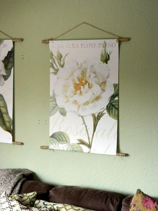 Diy Dowel Hanging Nature Poster Hanging Posters Tapestry Hanger Diy Tapestry