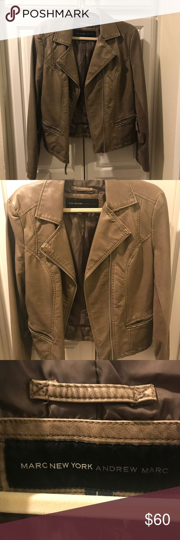 Marc New York (by Andrew Marc) leather jacket Marc New York (by Anthony Marc) metallic brown leather jacket • great condition • size Large • ✨✨ Andrew Marc Jackets & Coats