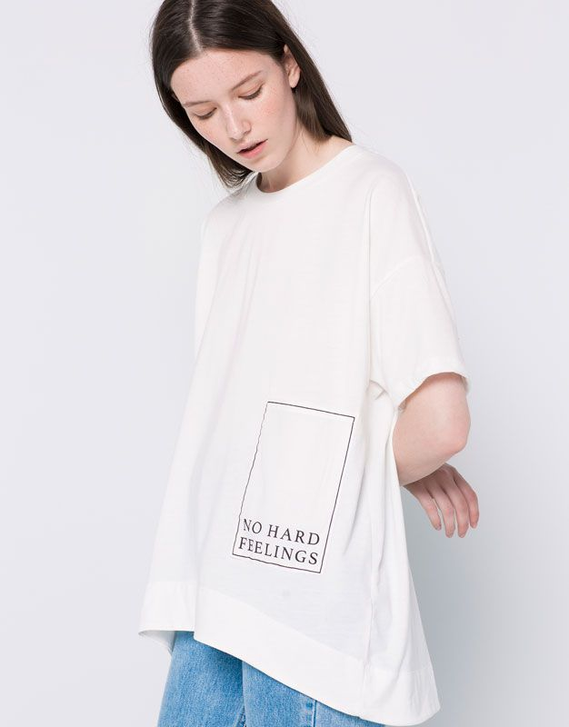 fc3bb735747c MESSAGE-PRINT POCKET T-SHIRT - T-SHIRTS - WOMAN - PULL&BEAR Albania | Tops,  Tees, Tunics, Sweatshirts & Sweaters | T shirt, Shirts, Sweaters