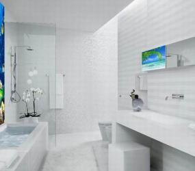 Декор из пленки в ванной