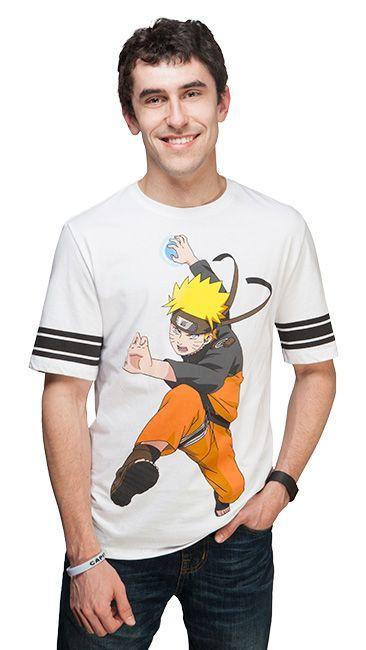 Naruto's Rasengan Striped Sleeve Tee - Exclusive T-Shirt - Anime T-Shirt