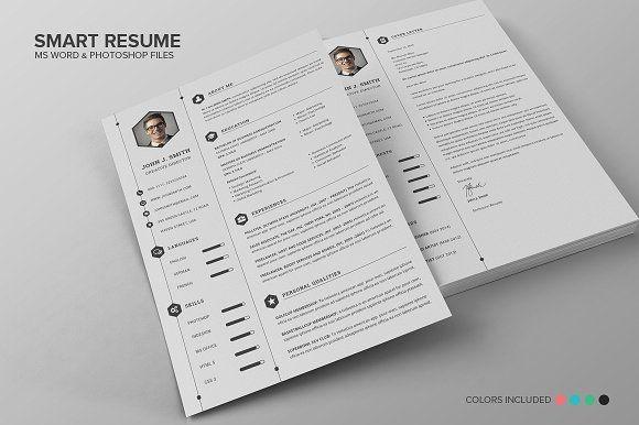 The 221 best professional resume template images on pinterest smart resume cv set resume design templatecv templateprint yelopaper Choice Image