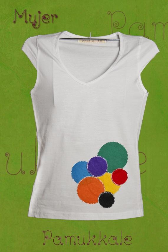 camiseta decorada con fieltro. / Pamukkaleworld - Artesanio