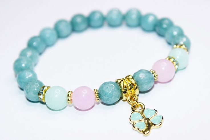 Bransoletka pastelowy jadeit - ELMAR0 - Jadeit