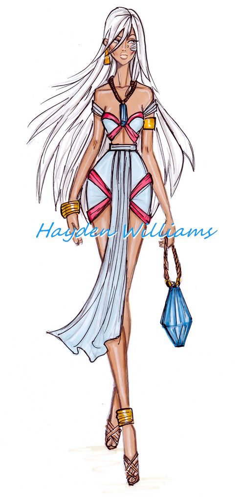 Hayden Williams Fashion Illustrations: The Disney Diva's collection by Hayden Williams: Kida