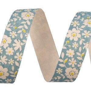 Bavlněná stuha s květinovým potiskem
