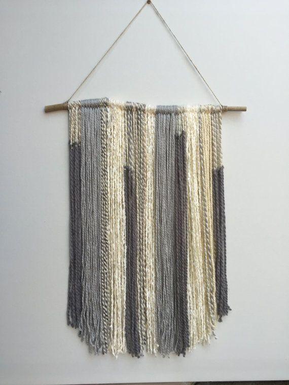 The 25 best yarn wall hanging ideas on pinterest yarn for Yarn wall art