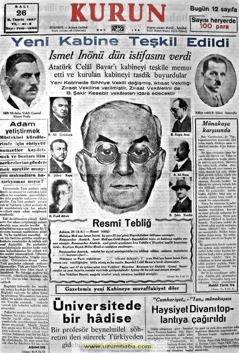 immoraltales:  Kurun Gazetesi (1937) Görsel