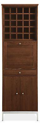 Linear Bar Cabinets with Steel Base - Modern Bar Carts & Cabinets - Modern Living Room Furniture - Room & Board
