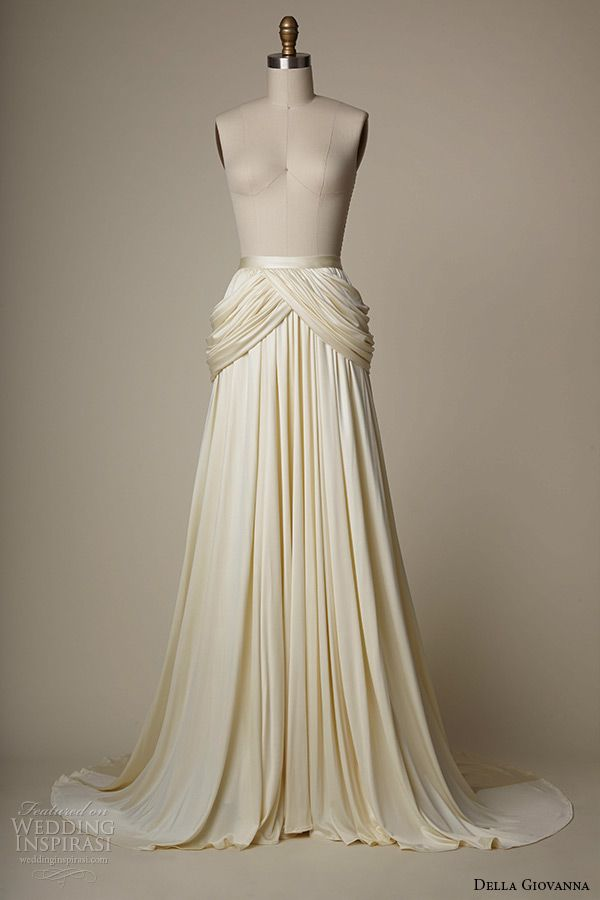 della giovanna wedding dress 2015 bridal silk knit jersey grecian draped skirt sarah