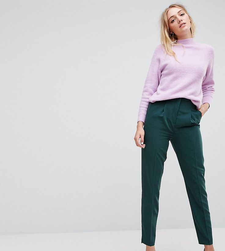 Get this Asos Tall's skinny trousers now! Click for more details. Worldwide shipping. ASOS TALL Mix & Match Highwaist Cigarette Trousers - Green: Tall trousers by ASOS TALL, Stretchy woven fabric, High waist, Concealed placket, Side pockets, Slim fit - cut close to the body. Find fresh wardrobe wins with our ASOS TALL edit. Raise your sunrise-till-sunset game with occasion dresses, cool separates and jeans that go up to a 38� leg length and are perfectly proportioned to fit girls who are…