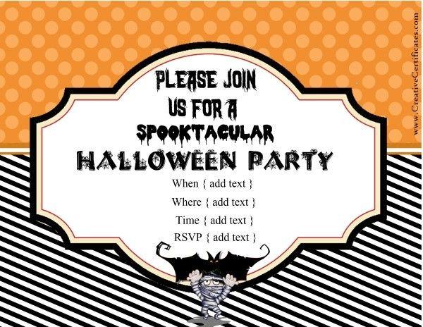 42 best halloween images on pinterest halloween cards custom halloween invitation stopboris Images