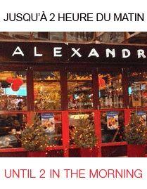Restaurant Chez Alexandre & Fils...a #Montreal to do! http://www.chezalexandre.com  Né en 1977, cette Brasserie typiquement parisienne a été décorée par Monsieur Damas, architecte parisien. C'est ici qu'en 1982 a été servi la première bière en fût importée au Québec. Le côté Terrasse Bistro vous accueille jusqu'à 3 h du matin et la cuisine jusqu'à 2 h du matin 7 jours sur 7. @Sezmu.com * Food & Beverage