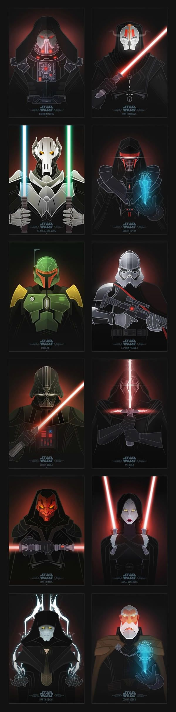 Desenhos Ilustram o Lado Negro De Star Wars - Não Intendo