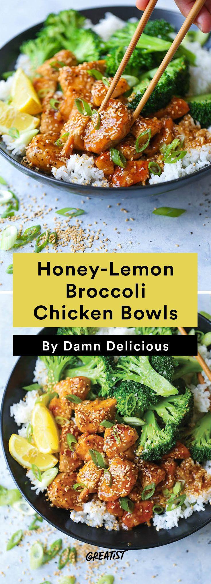 1. Honey-Lemon Chicken Broccoli Bowls #easy #dinner #recipes http://greatist.com/eat/easy-dinner-recipes-to-make-this-week