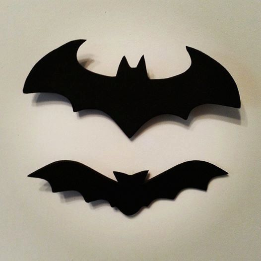 25 black bat cardstock cut outs halloween by stachemeifyoucan - Halloween Bat Decorations