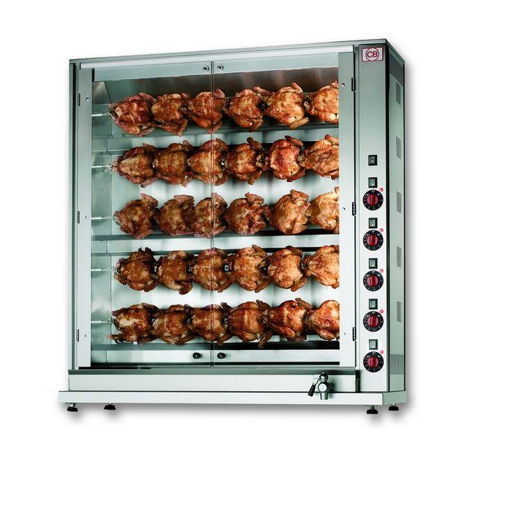 Girarrosto verticale elettrico 30 polli. www.cb-italy.com