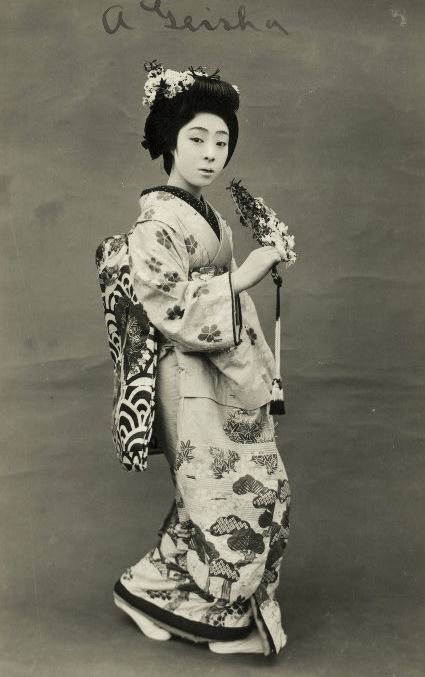 A maiko. About 1900, Japan