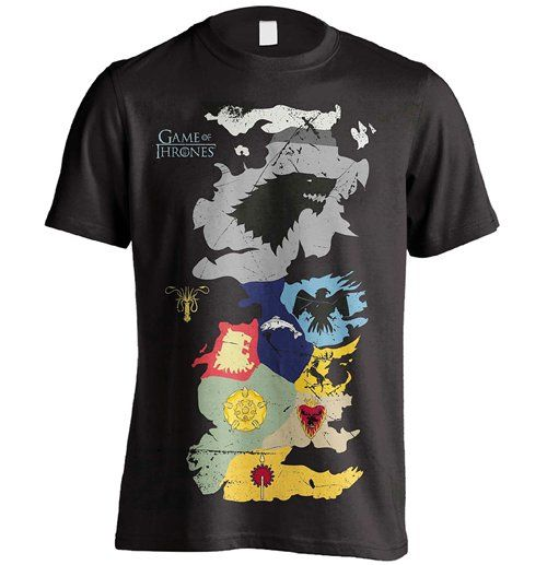 Game of Thrones Westeros Sigils Map T-Shirt