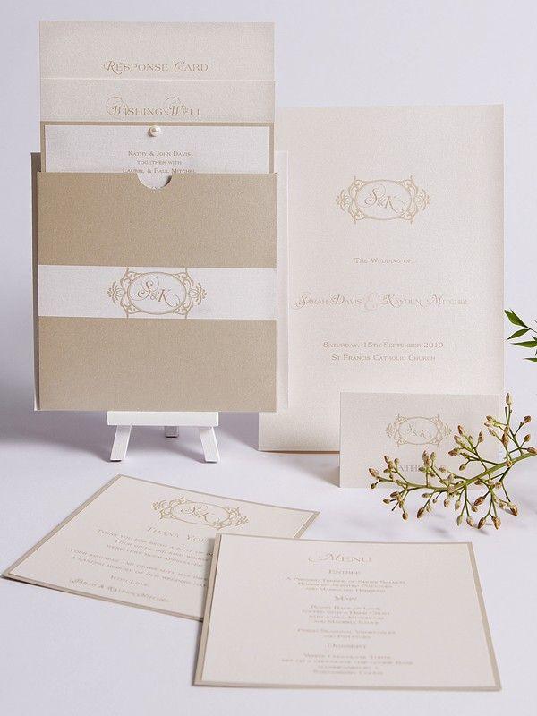Arabesque Collection - Elegant Invitations - Themed Invitations   Red Wax Invitations