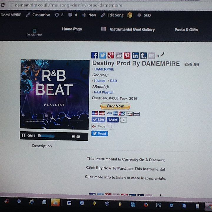 New #lease #instrumental #beat Destiny prod by DAMEMPIRE now available on www.damempire.co.uk link in bio #God #DAMEMPIRE #producers #flstudio #logic #artist #musicians #singers #rappers Check out this hot new post from #DAMEMPIRE