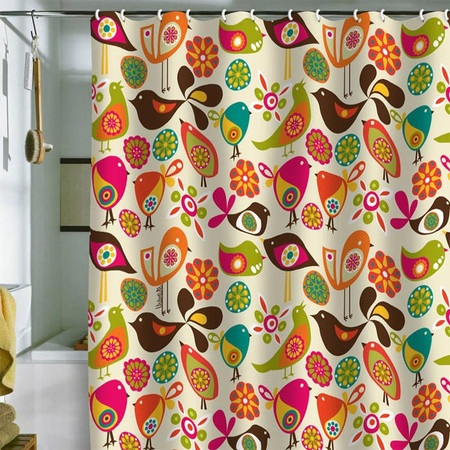 I pinned this Valentina Ramos Little Birds Shower Curtain from the Valentina Ramos event at Joss and Main!