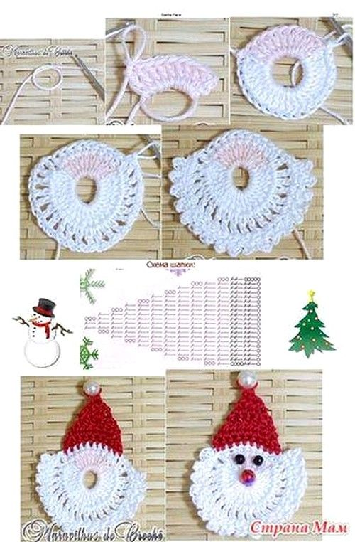 santa http://crochet-plaisir.over-blog.com/article-decorations-de-noel-et-ses-grilles-gratuites-au-crochet-112440243.html