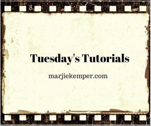 Tuesday's Tutorials Weekly Mixed Media Blog Series (Marjie Kemper)