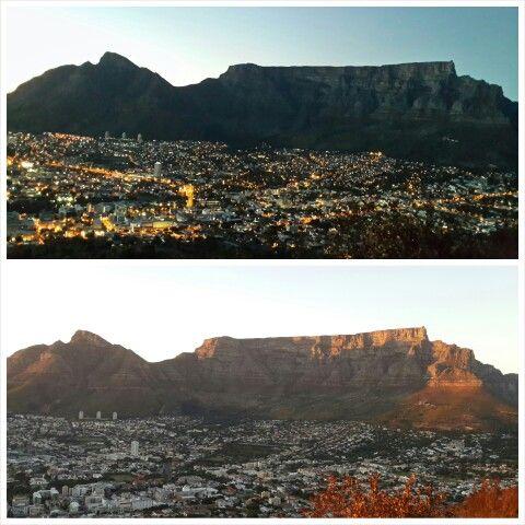 Beautiful Table Mountain at Sunrise