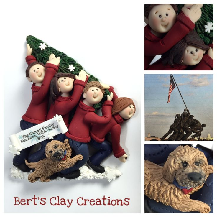 Custom new home, engagements, anniversaries, Eagle Scout toppers, ornaments, Exclusive custom bride and groom first Christmas wedding ornaments/2D sculptures - by Bert's Clay Creations - www.bertsclaycreations or https://www.etsy.com/shop/BertsClayCreations?ref=hdr_shop_menu