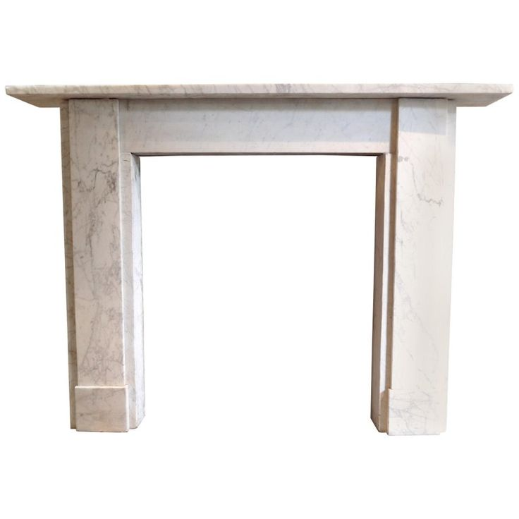 1stdibs Fireplace / Mantel – Beautifully Veined Piece English Georgian Carrara Marble