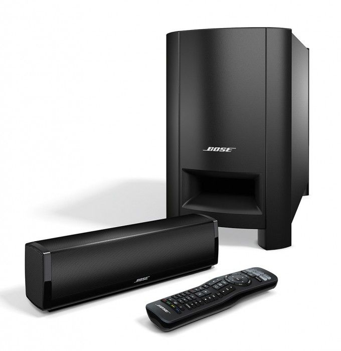 The Bose CineMate 15 soundbar will dramatically improve the sound you got from your TV's speakers with just one cable needed.