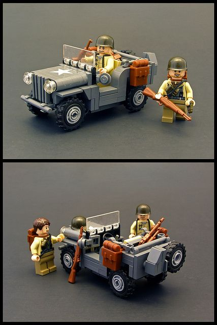 5-wide Willys Jeep by Legohaulic, via Flickr