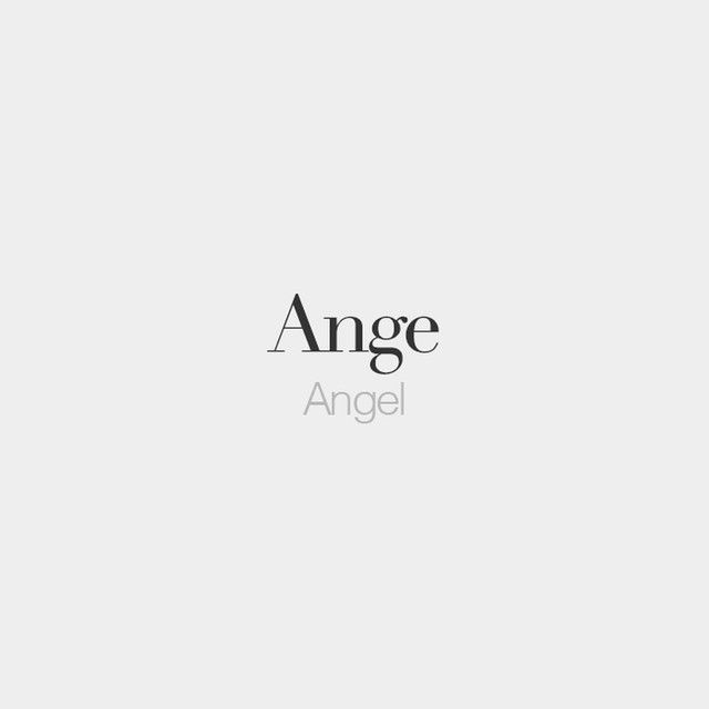 Ange (masculine phrase) | Angel | /ɑ̃ʒ/  Comply with @frenchwordsjournal for photographs …