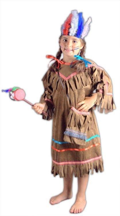 Kızılderili Kız Çocuk Kostüm